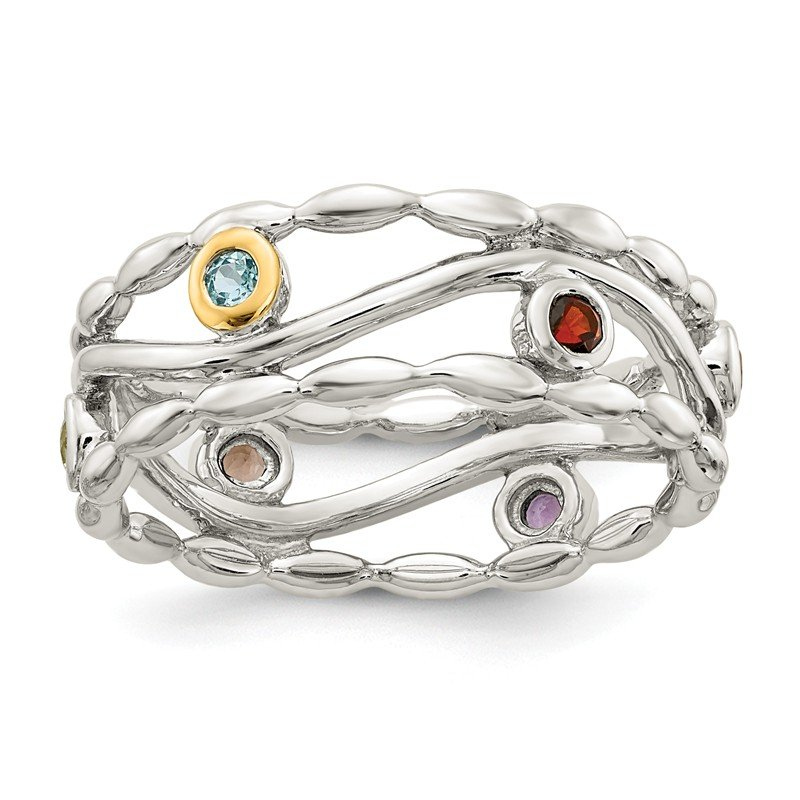Shey Couture Sterling Silver w/ 14K Accent Multi-colored Ring