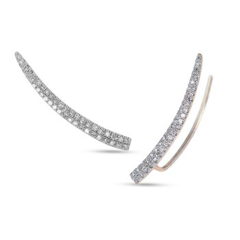 14K RG Diamond Thorn Climber Earring