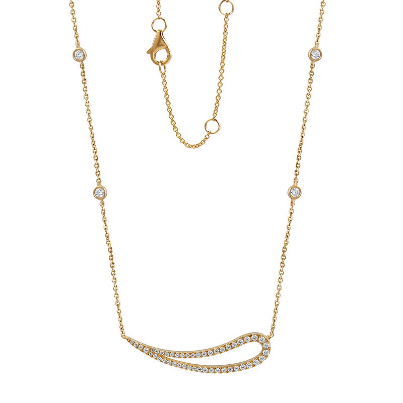 "Shula NY BEAUTIFUL 14K NECKLACE 47 DIAMONDS 0.37CT  18"" CHAIN"