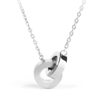 316L shiny and polished stainless steel necklaces.