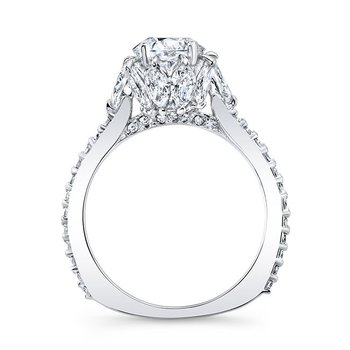 Engagement Ring With Marquise Stones