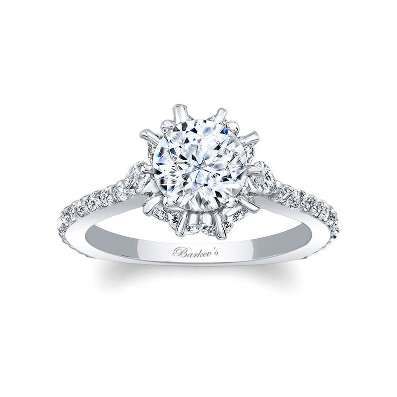 Barkev's Engagement Ring With Marquise Stones