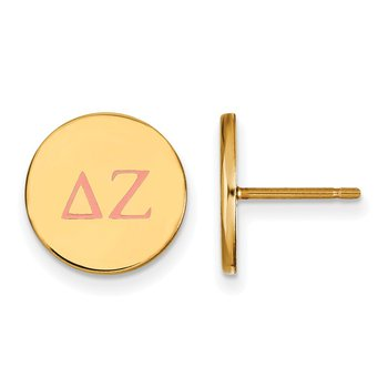 Gold-Plated Sterling Silver Delta Zeta Greek Life Earrings
