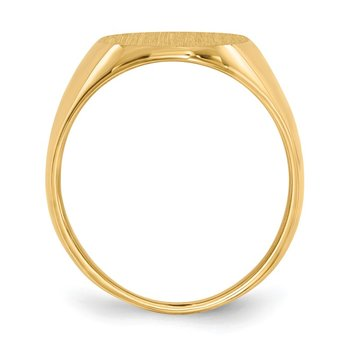 14k 16.0x13.0mm Closed Back Signet Ring
