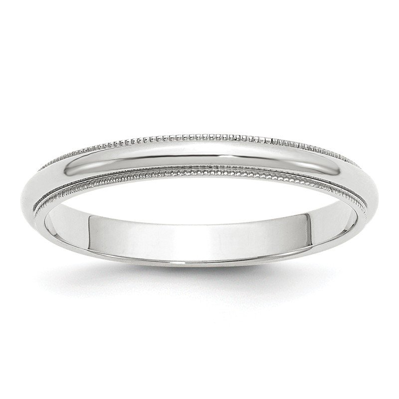 Quality Gold 14k White Gold 3mm Milgrain Band
