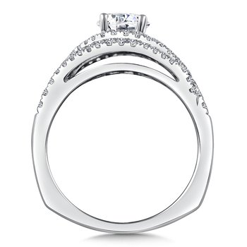 Diamond Engagement Ring Mounting in 14K White/Rose Gold (.36 ct. tw.)