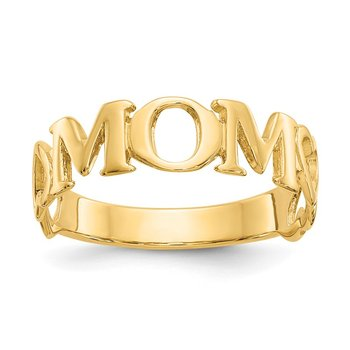 14k Polished Mom Ring