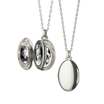 "The Four Image ""Premier"" Locket in Sterling Silver"