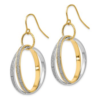 Leslie's 14K Two-tone Glimmer Infused D/C Dangle Earrings