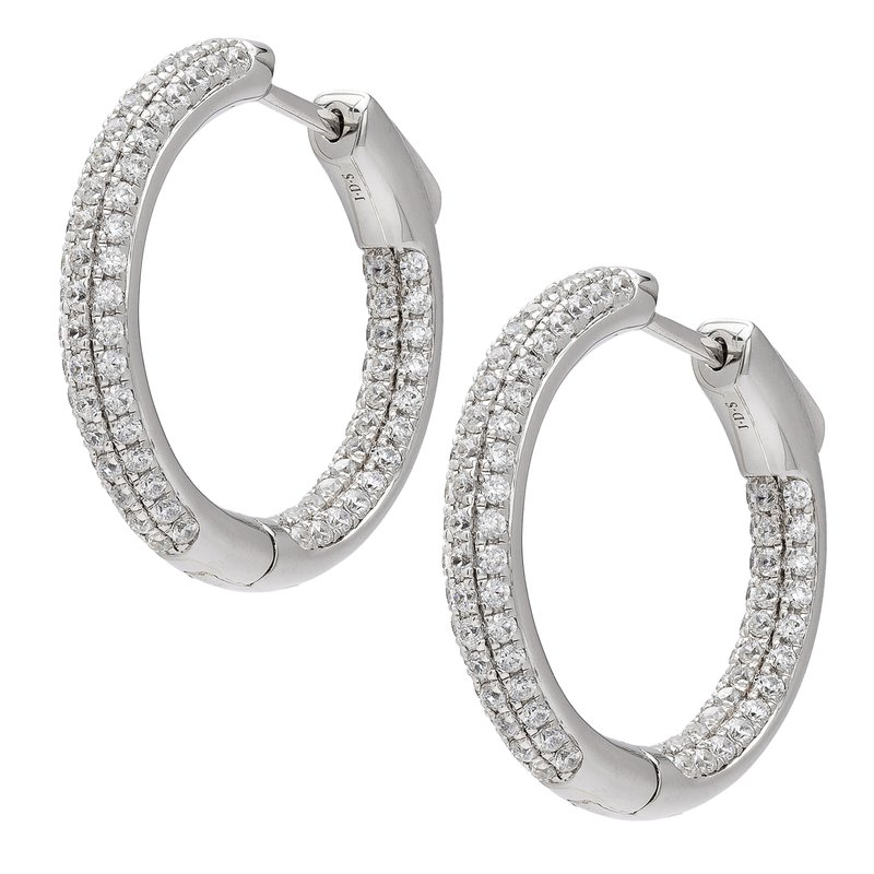 Signature Classics Collection Diamond Hoop Earrings