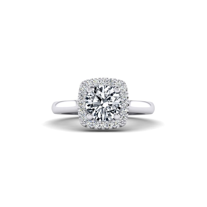 Toodie's Bridal Cushion Shaped Diamond Halo Top Engagement Ring