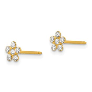 Inverness 14k April Crystal Birthstone Flower Earrings