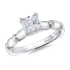 Valina Solitaire mounting .02 tw., 1 ct. Princess center.