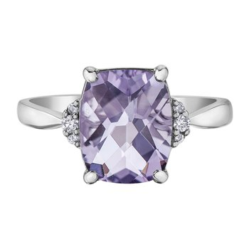 Pink Amethyst Ladies Ring