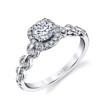 MARS 25829 Diamond Engagement Ring 0.25 Ctw.