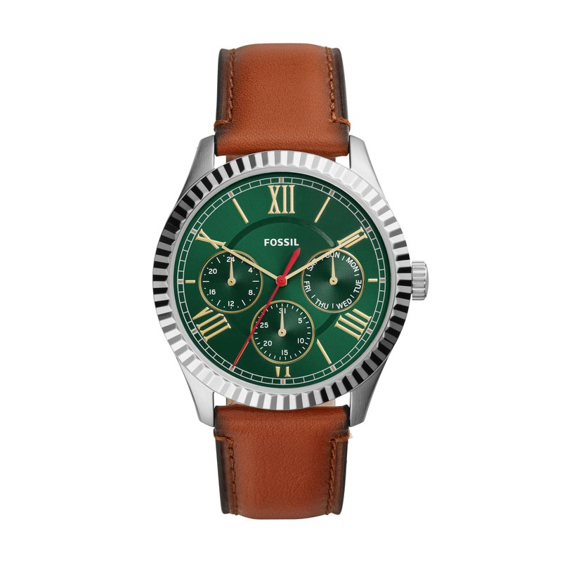 Fossil Chapman Multifunction Luggage Leather Watch