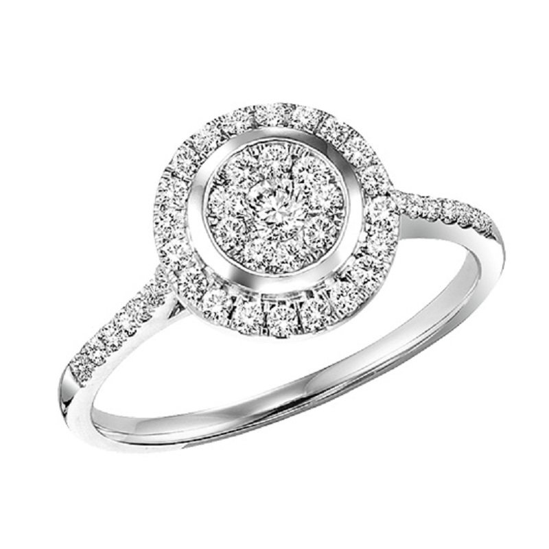 Mixables 14K Diamond Engagement Ring 1/2 ctw