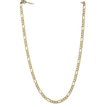 14k 5.25mm Flat Figaro Chain