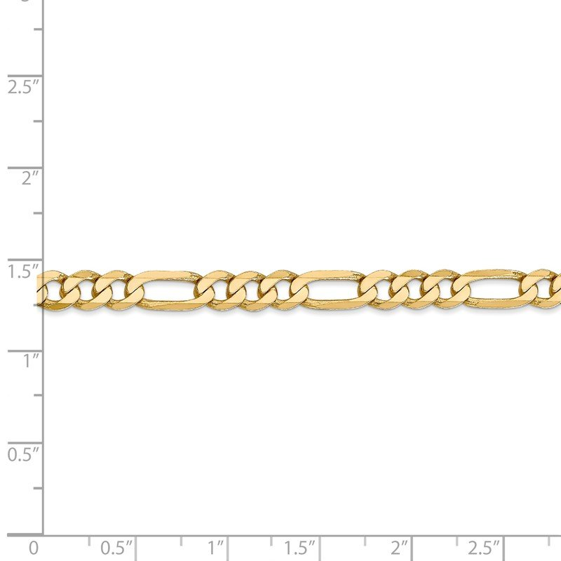 J.F. Kruse Signature Collection 14k 5.25mm Flat Figaro Chain