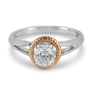 14K WR Diamond Solitaire Engagement Ring