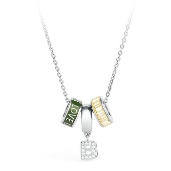316L stainless steel, enamels and crystals Swarovski® Elements