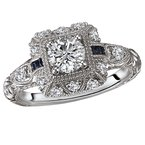 Romance Vintage Semi Mount Diamond Ring