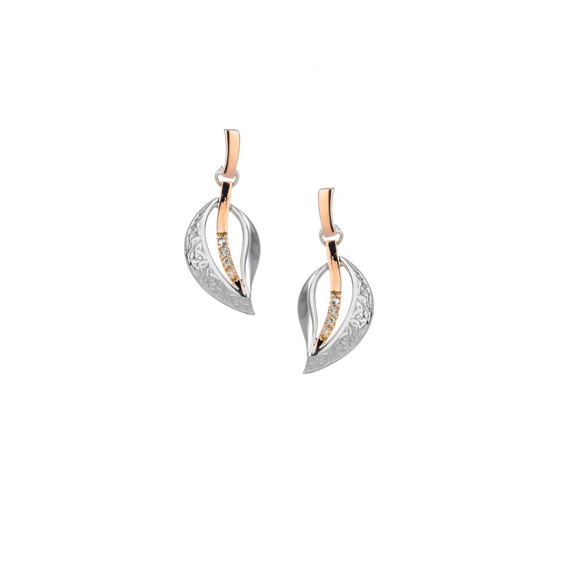 Keith Jack Trinity Leaf Post Earrings