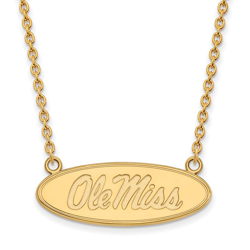 NCAA Gold-Plated Sterling Silver University of Mississippi NCAA Necklace