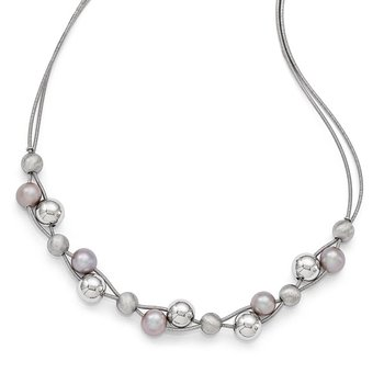 Leslie's Sterling Silver Polished w/2.5in Extender Necklace