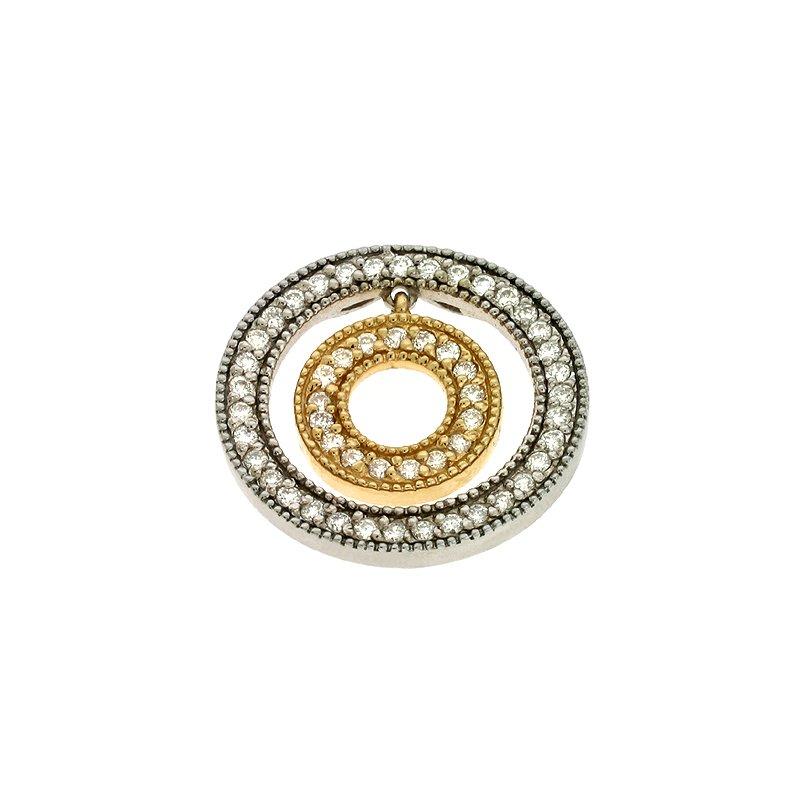 S. Kashi  & Sons Yellow & White Gold Diamond Pendant