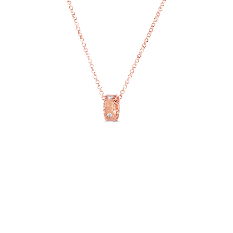 Roberto Coin  #28467 Of 18Kt Gold Princess Necklace With Diamonds