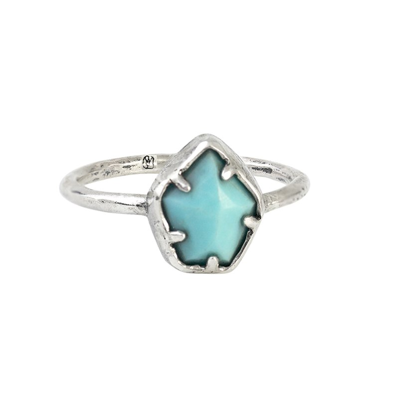 Waxing Poetic Grounding Ring - Turquoise