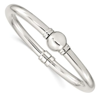 Sterling Silver Polished Hinged Bangle