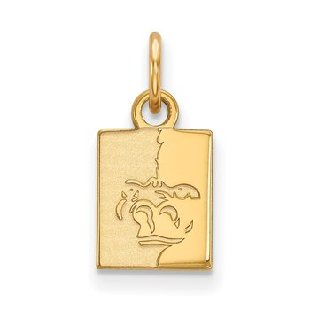 Gold Pittsburg State University NCAA Pendant