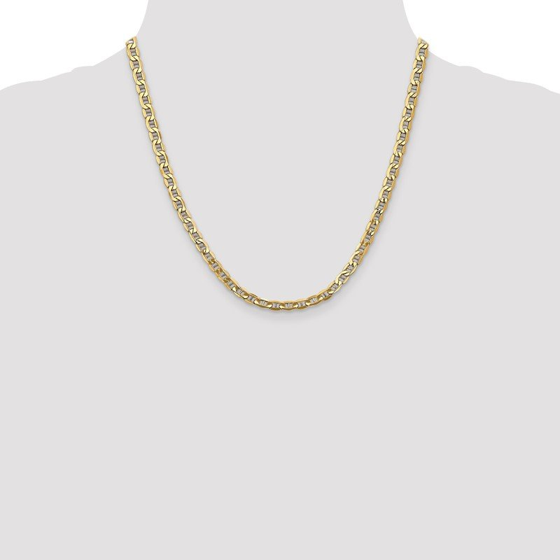 Quality Gold 14k 4.75mm Semi-Solid Anchor Chain