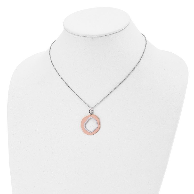 Leslie's Leslie's Sterling Silver Rose Gold-plated Polished with 1in ext. Necklace