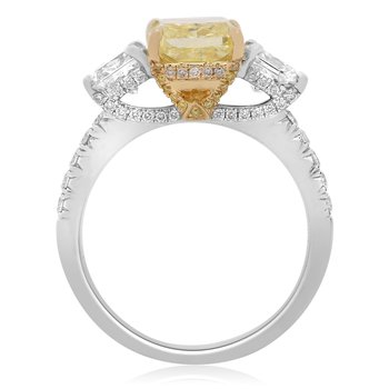 Modern Yellow Diamond Ring