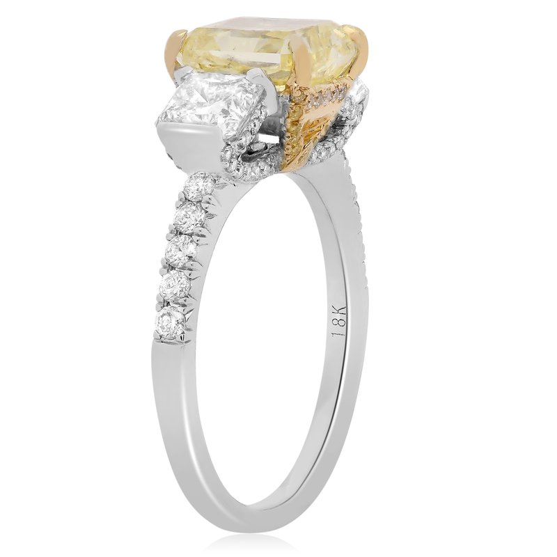 Roman & Jules Modern Yellow Diamond Ring