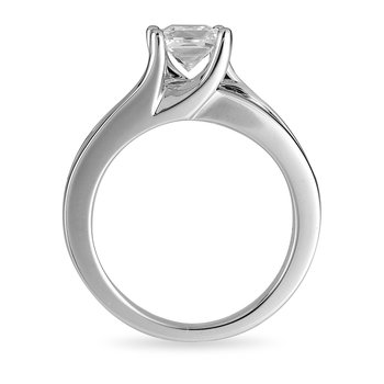 14K WG Diamond Engagement Ring (Semi-Mount)