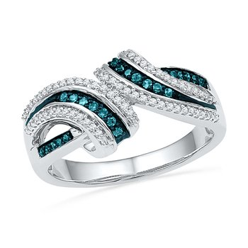 .25 ctw Blue & White Diamond Ring
