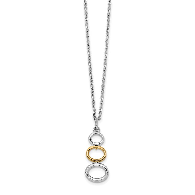 Quality Gold SS White Ice Gold-Tone 1/2 pt Diamond Necklace