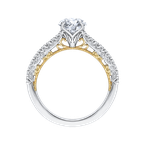 Round Diamond Engagement Ring In 18K Two-Tone Gold (Semi-Mount)