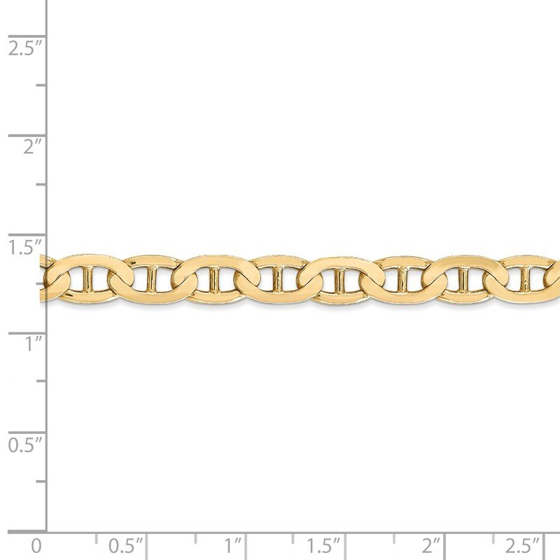 Quality Gold 14k 6.25mm Concave Anchor Chain