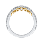 Carizza 14K Two-Tone Gold Round Cut Diamond Wedding Band