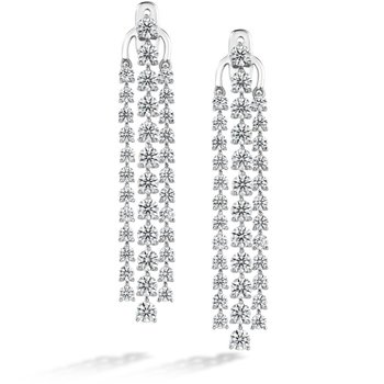 7.67 ctw. Cascade Stiletto Earring 3 Row