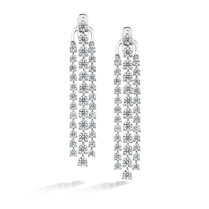 Hearts on Fire Cascade Stiletto Earring 3 Row