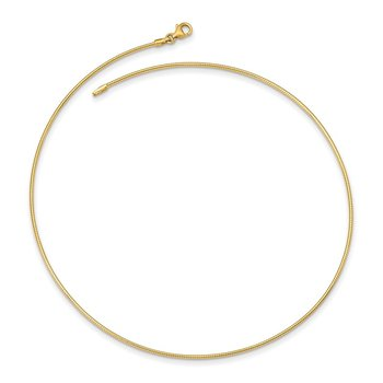14K Yellow Gold 1.4mm Round Omega