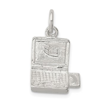 Sterling Silver Laptop Computer Charm