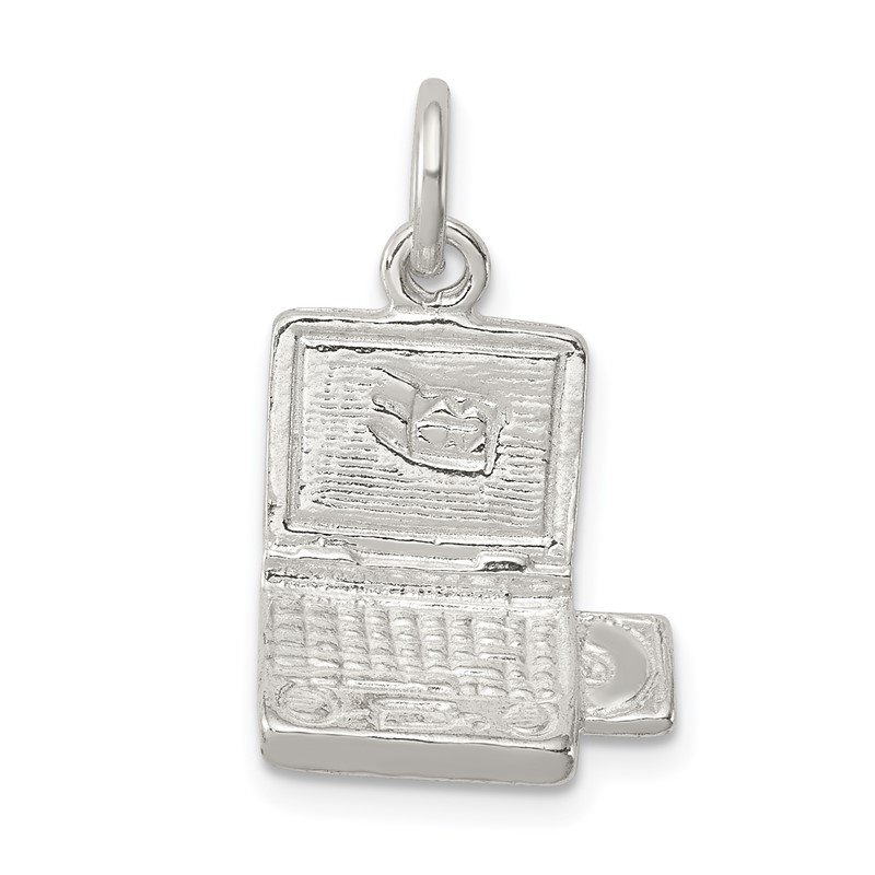 Quality Gold Sterling Silver Laptop Computer Charm