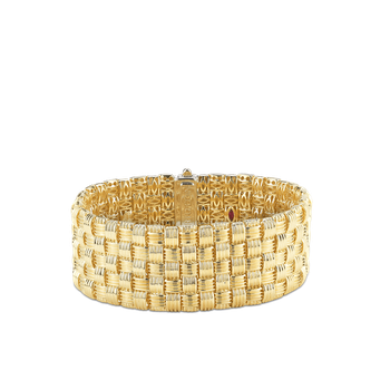 18KT GOLD 5 ROW BRACELET WITH DIAMOND CLASP